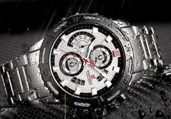 NF9165 Naviforce Luxury Stainless Steel Chronograph Watch