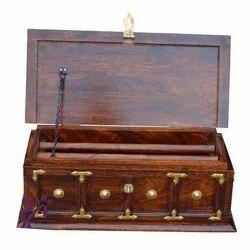 Sheesham Wood Traditional Wooden Bangle Box, Shape: Rectangular