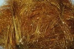 Dyed Golden Gold Metalized Polyester Yarn, for Textile Industry, 50-75 Dn