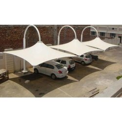 Pyramid Shape Parking Tensile Structure