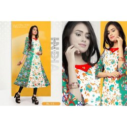 Fancy Anarkali Rayon 3/4 Sleeve Kurti