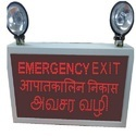 Multiple Language Industrial Emergency Exit Light