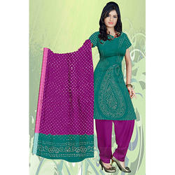Green Bandhani Fancy Suit