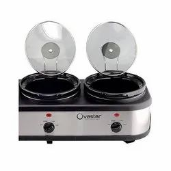 2 Pot Ovastsar Stainless Steel Slow Cooker