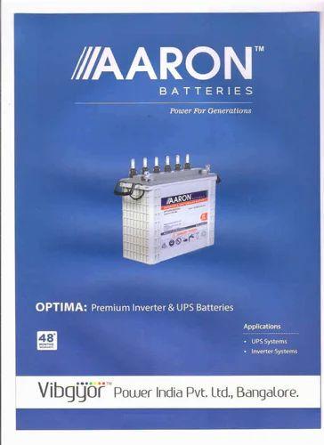 Aaron Inverter Solar Tubular Battery At Rs 14000 Unit