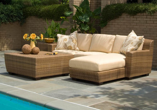 Global Corporation Brown, Wicker Color Option Wicker Outdoor Lounger