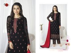 Embroidered Full Sleeve Black Palak Salwar Suit