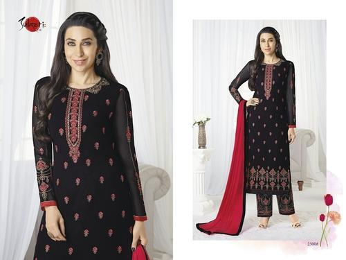 779a92cc6e Embroidered Full Sleeve Black Palak Salwar Suit, Rs 1595 /piece | ID ...