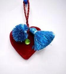 Heart Shape Christmas Tassel