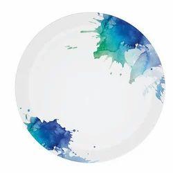 Brush Paint Melamine Round Plate