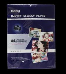 Oddy Coated Glossy Paper Universal For All Inkjet Printers with Self Adhesive