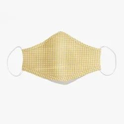Zealmax Yellow 100% Cotton Face Mask, Number of Layers: 3 Layers