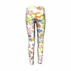 Poly Cotton Straight Fit Printed Knitted Leggings