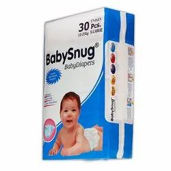 Cotton BabySnug XL Disposable Baby Diapers, Age Group: Newly Born-12 Months, Packaging Size: 30 Piece