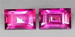 Pink Tourmaline Faceted Square Gemstone