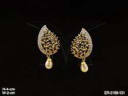 Party Wear American Diamond Earrings