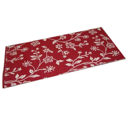 Red Ait Cotton Jacquard Rugs