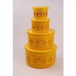 Alfa 4 Pcs Plastics Container Set