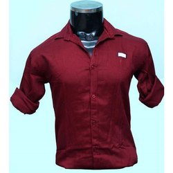 Cotton Collar Neck Mens Readymade Designer Shirt