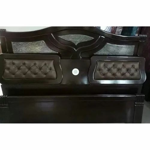 Brown Wooden Stylish Bed Headboard