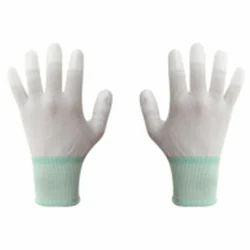 White ESD Safe Nylon Gloves for Laboratories