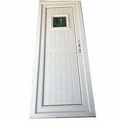 Hinged Decorative White PVC Door