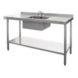 Single Sink Unit with Work Table