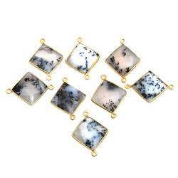 Dendrite Opal Square Shape Connector