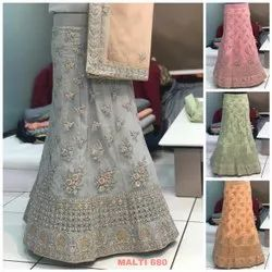 Exclusive Party Wear Net Embroidered Lehenga Choli