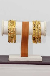 HR Sales Golden Hr-716 Imitation Bangles Set