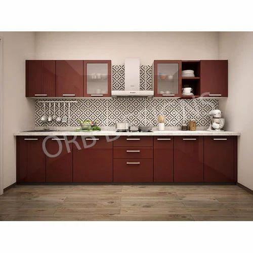 Laminated Modular Kitchen At Rs 1400 Square Feet: Modern Single Wall Kitchen At Rs 1050 /square Feet