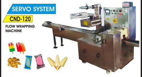 Automatics Flow Wrapping Machine ( PLC Model)