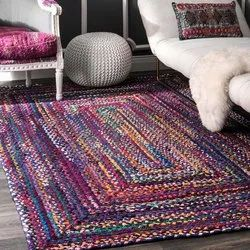 Multicolor Rectangular Jute Rectangle Rug, Size/Dimension: 24x44 Inches