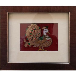 Peacock Glass Painting At Rs 375 Piece Glass Paintings Id