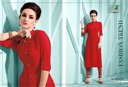 Printed Rayon Kurtis For Ladies