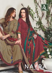 Alok Suit Nayra Pashmina Printed Dark Color Matching Ladies Suits