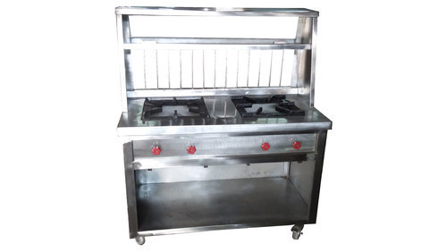 Stainless Steel Upto 4 Feet Chola Bhatura Counter for Cooking