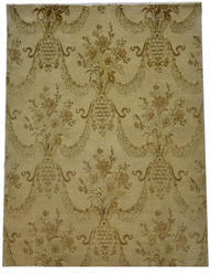 Hand Knotted Woolen Carpet - Light Color