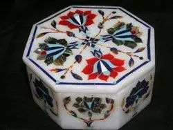 Round White Marble Box For Gifts