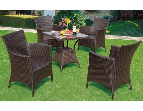 77004f8affdc Shiva Garden Shop Black/white/brown Outdoor Dining Table Set, Rs ...