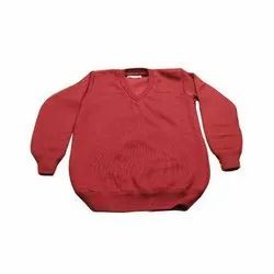 Red Full Sleeve School Uniform Sweater