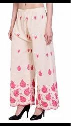 Ladies Chikan Embroidery Palazzo