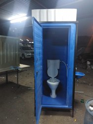 FRP Western Toilet Cabin With Water Tank