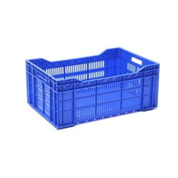 Blue Rectangular Vegetable Plastic Crates