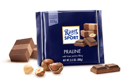 Ritter Sport Milk Chocolate with Praline Filling (100g)