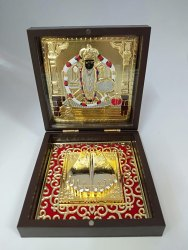 Charbhuja Vishnu Gold Plated Photo Frame Box