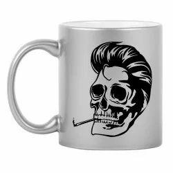 White Ceramic Printed Coffee Mug, Packaging Type: Box