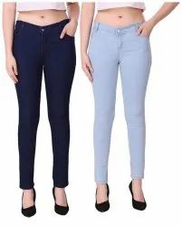 Blue Zipper Ladies Jeans
