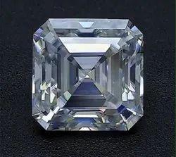 DEF Asscher Cut Moissanite Diamonds