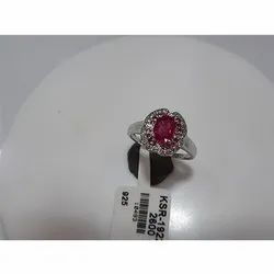 925 Silver Ruby Sapphire Ring